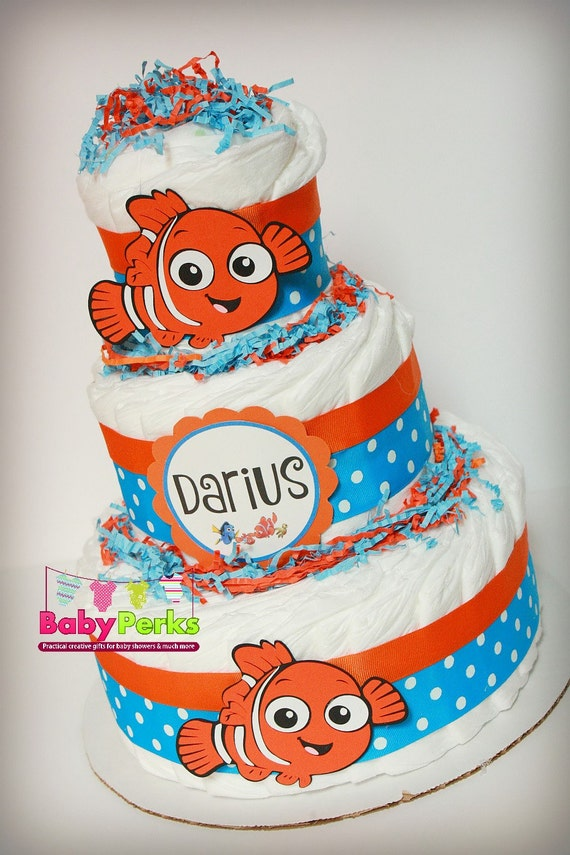 finding nemo diaper cake finding dory baby shower centerpiece