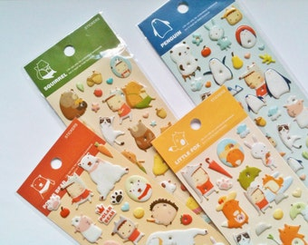 4 Sheets, Animal Stickers