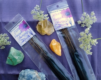 10 MAGICKAL & WICCAN Hand-Dipped Pressed Charcoal Essential Oil Incense Sticks - Choose your scent! - pagan ritual supplies, altar supplies