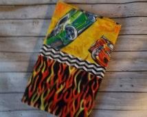 Standard Pillow Case - Hot Wheels Pillow Case - Cartoon Pillow Case-Standard Size  Cars and Flames Pillow Case - Kids Standard Pillow Case