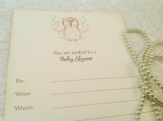 Blank Baby Shower Invitations Owl Baby Shower Invitations Owl