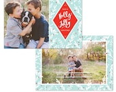 INSTANT DOWNLOAD - Christmas Holiday Card Photoshop template - e1240