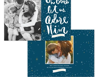 INSTANT DOWNLOAD - Christmas Holiday Card Photoshop template - e1235