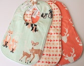 Baby Bibs, Toddler bibs, Hello bear bibs, Set of 3 bibs, Shower gift bib set, Bibs and Burping