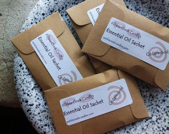 Unisex Spring Cleaning Homekeeping Cedar Sachets His Her Gift Couple Eco Friendly Natural Product Aromatherapy Essential Oil
