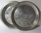 "Vintage Advertising Set of 2 Vintage Mrs. Smith's ""Mello-Rich"" Pie Plates"