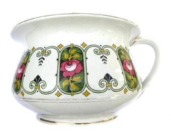 Art Nouveau Planter Edwardian Chamber Pot Vintage Planter Vintage Gazunder Vintage Potty Edwardian Planter Vintage Housewares Home Decor