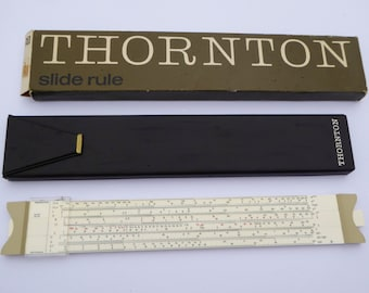 British Thornton P271 Slide Rule 39/6 with Carry Case Vintage Slide Rule Vintage Math Vintage School Vintage Science