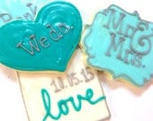 Wedding Cookies We Do Sugar Cookies Mr. & Mrs. Wedding Favor Iced Decorated Sugar Cookies Wedding Date Cookies