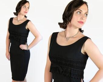 60s Little Black Dress, Mad Men, Wiggle Dress, Vintage Wedding, Lace