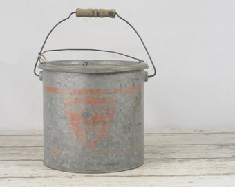 Vintage Falls City Galvanized Metal Minnow Bucket The Anglers Choice