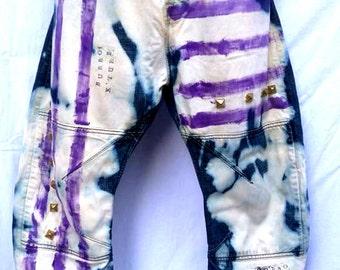 STUDS N STRIPES custom jeans