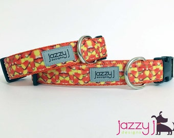 Candy Corn Crazy Halloween Fall October Dog Collar