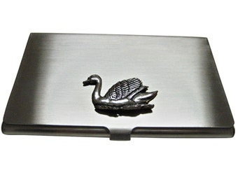 Swan Bird Business Card Holder