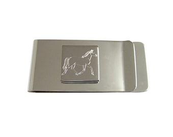 Engraved Full Horse Money Clip