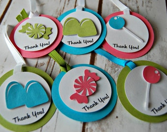 Candy Themed Favor Tags (12pc) Completed or DIY