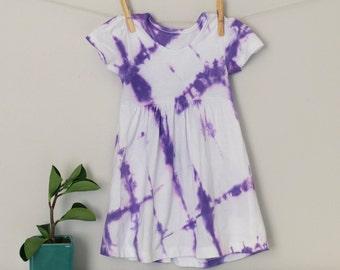 Purple Shibori Dyed Dress