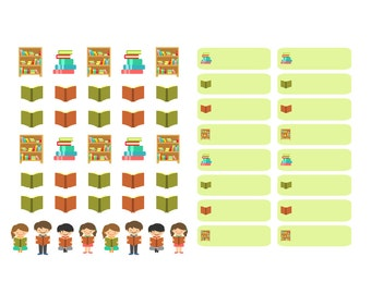 Reading/Book - Planner Stickers