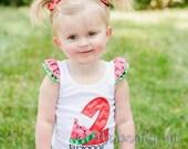 Watermelon Birthday Shirt - Picnic birthday shirt - Girls birthday shirt - First Birthday Shirt - Girls watermelon shirt