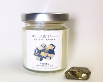"Pyrite Crystal Candle ""Little Sister"""