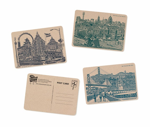 Icons of San Francisco, California Postcards - Set of 6 Cards