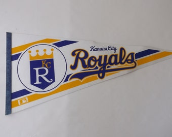 Vintage Pennant/ Kansas City Royals/ Athletics/ Sport Collectibles/ Souvenir/ Memorabilia/ Souvenir/ Large Felt Flag/ stillstunningvintage