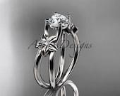 platinum diamond floral wedding ring,engagement ring ADLR130