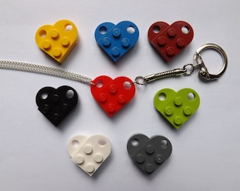 Lego Heart Necklace and Keyring