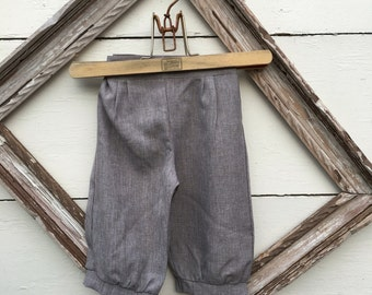Cafe brown knicker pants, Size 1-3yrs or 4-6 yrs little boys knicker pants, ring bearer knicker pants