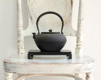 Antique Japanese Cast Iron / Bronze Signed Tetsubin Teapot Kettle