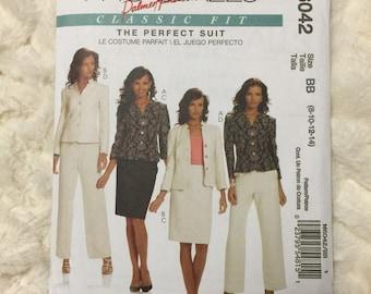 McCalls Palmer Pletsch Misses 21 piece jacket, skirt and pants suit Sewing Pattern M6042 Size 8 10 12 14 UC Uncut FF