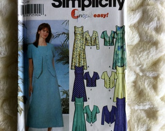 Simplicity Fashion Misses 14 piece Petite Dress and jacket #5957 Sewing Pattern UC FF size 14-16-18-20-22
