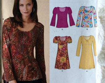 New Look by Simplicity Womens Retro Top Dress Shirt Sewing Pattern 6830 Size 8 10 12 14 16 18  UC FF Uncut