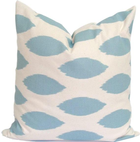 Pillow.Blue Pillow.18x18 inch.Pillow Cover.Decorative Pillows.Throw Pillow.Blue PIllow.Ikat.Pillow Coordinates.Blue Fabric.Housewares.Throw