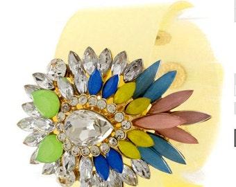 Yellow Bracelet,  Popular jewelry Bracelet, Prom dress jewelry, Bridesmaid Gifts, trending Items Jewelry,Summer Bracelet,  PiYOYO