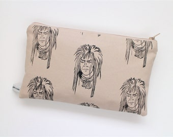 David Bowie Purse - Labyrinth Inspired Zipper Pouch