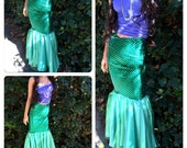 MARIMAR- Mermaid Costume tail only, mermaid tail costume, mermaid tail walkable, Traje de disfraz cola de SIRENA, The Little Mermaid adult