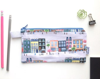 Fairmount Avenue Divided Pencil Case (handmade philosophy's pattern)