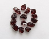 Natural Rough Red Garnet, Unheated, Uncut, Lot (13) of 44.06 carats