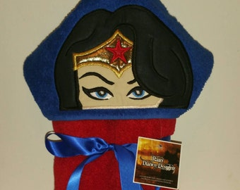 Wonder Woman Hooded Bath Towel