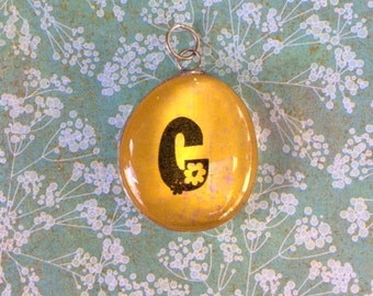 The Letter C Pendant Soldered Glass Initial