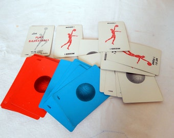 Let's Play Basketball 1970's Card Game DMR Louisville Scrapbooking Papercraft Project Supply