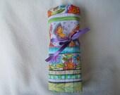 Pretty Laurel Burch Cotton Fabric Roll-up Crochet Hook Case