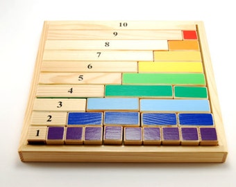 Montessori mathematical wooden game - content of numbers (ages 4-8 )