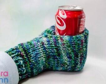 Knit beverage mitt