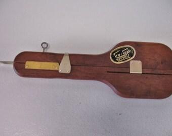 Vintage Tru Gyde Wilson Bros. Rug Punch Hook tool sliding Needle Hand tool Rug Making