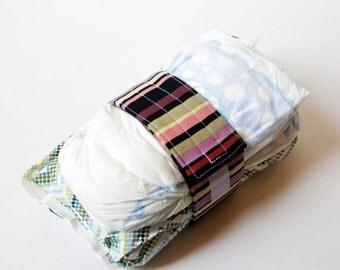 Clearance Stripe Diaper Strap - Purple and Black Stripes
