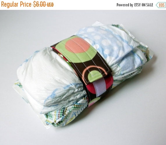 Clearance Polka Dot Diaper Strap - Hot Pink Polka Dots with Pink and Lime Green Dots