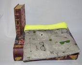 Geeky Cotton with Neon Yellow Fleece Snuggle Bag