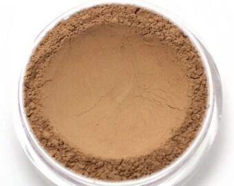 "Mineral Wonder Powder Foundation - ""Mocha"" - medium to dark shade with a neutral undertone - vegan makeup"